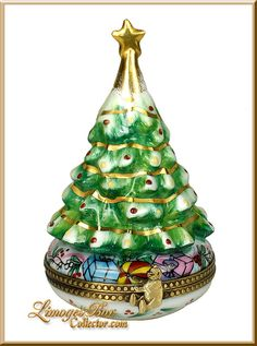 Christmas Tree with Gifts Limoges Box (Beauchamp)