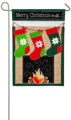 Chrismas Stocking Garden Flag by Evergreen