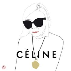 Joan Didion for Céline shot by Juergen Teller - illustrated by Chiara Rigoni #fashionillustration #illustration #chiararigoni #celine #joandidion #campaign #granny