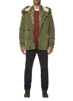 Scotch & Soda Hooded parka • de Bijenkorf