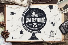 I LOVE TRAVELLING by Cosmic Store on @creativemarket