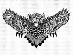 owl spread wings tattoo - Google Search