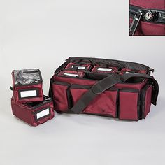 Locking Medication Transport Bag Convenient - An organized, secure, tamper-evident solution for Home Health, EMS and other medical professionals to transport medication to patients. Lockable main compartment includes two keys and six patient/supply packs. Versatile - Packs will hold 6-12 prescription bottles each and can be locked with security seals. Each pack includes an exterior pocket to label contents.