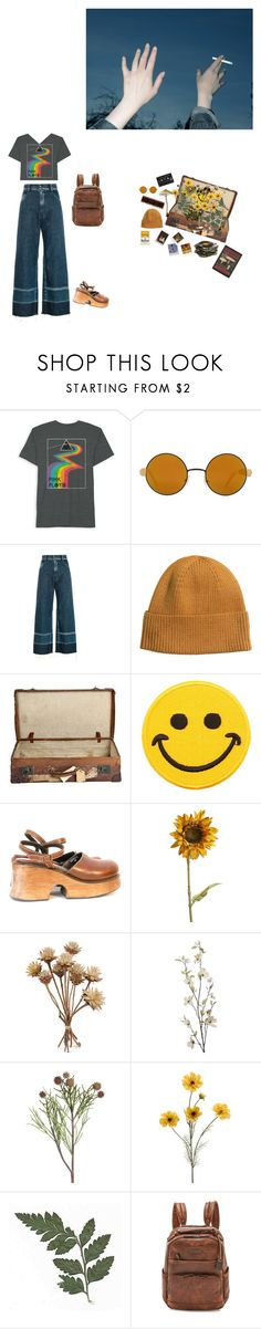 """Us >>> them"" by shay-heid ❤ liked on Polyvore featuring Floyd, Sheriff&Cherry, Rachel Comey, H&M, Polaroid, Hollywood Mirror, Pier 1 Imports and Frye"