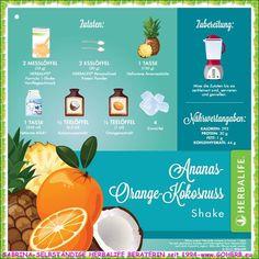 *HERBALIFE Shake der Woche: Ananas-Orange-Kokosnuss*  Tausche ungesunde Mahlzeiten gegen einen köstlichen Formula 1 Mahlzeitenersatz-Shake ein! SABRINA SELBSTSTÄNDIGE HERBALIFE BERATERIN seit 1994  https://www.goherbalife.com/goherb/de-DE Tel.: +4952337093696 Skype: sabrinaefabio