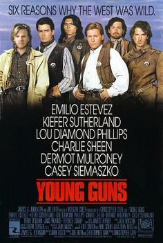 Young Guns is a 1988 action/western film directed by Christopher Cain and written by John Fusco. The film stars Emilio Estevez, Kiefer Sutherland, Lou Diamond Phillips, Charlie Sheen, Dermot Mulroney, Casey Siemaszko, Terence Stamp, Terry O'Quinn, Brian Keith, and Jack Palance.  Young Guns is a retelling of the adventures of Billy the Kid during the Lincoln County War, which took place in New Mexico during 1877–1878. It was filmed in and around New Mexico. Historian Dr. Paul Hutton has…