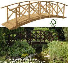 Pont bois de jardin à Prix Réduit : Pont bois de jardin Grande Rivière