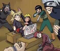 Naruto Lee Kakashi Gaara Kankuro Temari