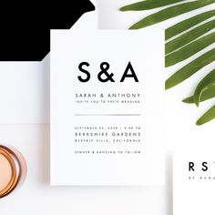 Foil Amplify Wedding Invitation Suites from Paper Culture