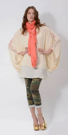 a mix of #elegant and #casual #pieces #military #VIRGINIA #VICTORIA #scarf