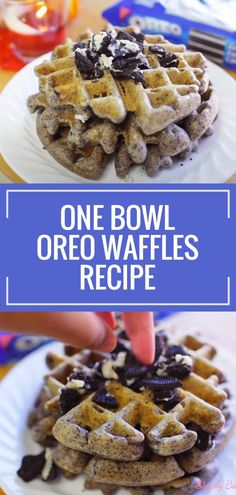 Try making these Oreo Waffles which are super crisp on the outside, light as a feather inside and so scrumptious! Enjoy this with a pair of your favorite milk. Yum! Oreo Cheesecake Cookies, Pumpkin Cheesecake, Oreo Cookies, Yummy Cookies, Oreo Desserts, Oreo Ice Cream, Whipped Cream, Easy To Make Cookies, Waffle Ingredients