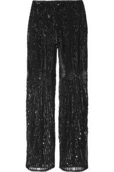 Alberta Ferretti Embellished silk straight-leg pants #sequin #sparkle #fashion @NET-A-PORTER Group LTD IT Careers