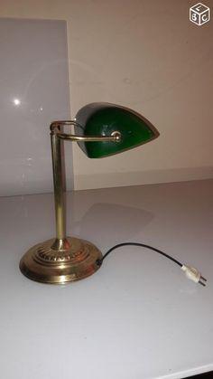 Amazing Lampe vintage verte en bon tat A SAISIR