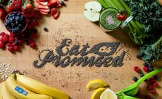 Creative Food, Typography, Beautiful, and Illustration image ideas & inspiration on Designspiration Summer Typography, Food Typography, Hand Drawn Type, Food Quotes, Beauty Photos, Lettering Design, Food Design, Bamboo Cutting Board, Street Food