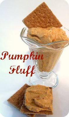 Diety Friendly Snack! Pumpkin Fluff recipe at TidyMom.net