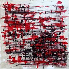 TABLEAU PEINTURE rouge abstrait deco design - RNG 2