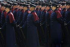Cadets during the University Open House in fall 2011.