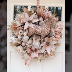 List of Trendy Tree customers who design and make custom wreaths to sell. Rose Gold Christmas Decorations, Christmas Rose, Christmas Swags, Holiday Wreaths, Xmas Decorations, Christmas Crafts, Winter Wreaths, Spring Wreaths, Summer Wreath