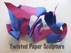 Twisted paper sculptures...