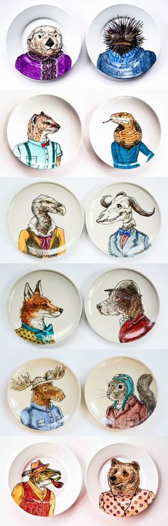 Love these plates by Rachel Kozlowski