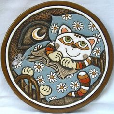 lovely ceramic clay wall plaque with cute cat in bed design ideal gift for cat lovers handcrafted from high-quality ceramic clay, shaped by hand and hand painted with ceramic glazes with opening on the back to hang up on the wall unique design from a small Czech pottery in south Bohemia Click on the picture to  enlarge. … … Continue reading →
