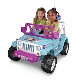 disney frozen girls wrangler jeep 12v battery radio 2 speed ride on elsa anna cars for kidspower