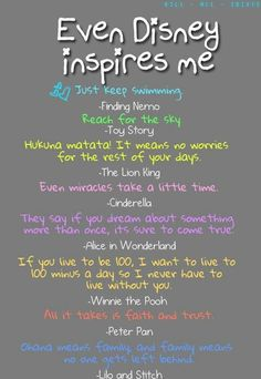 Cute Disney quotes. They'd be cute painted on the wall of a closet or bathroom