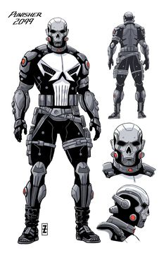 Marvel has unveiled the first at the future Punisher. Marvel released Thursday their November solicitation introducing Punisher's new costume for the new s Comic Book Characters, Marvel Characters, Comic Character, Comic Books Art, Character Concept, Comic Art, Marvel Art, Marvel Dc Comics, Marvel Heroes