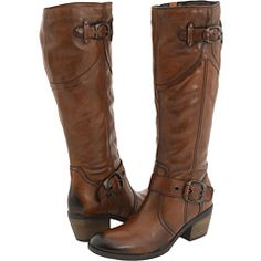 Clarks Lyme Grass Western Boot ~ I bought these last year and they are GREAT!!  The boot has 1 1/2 inch heel, a soft foot bed, a light lining so you can wear them even when it's chilly out...they also have a stretchy calf area for those of us who have athletic calves, and I am still able to tuck my jeans in them if I want :)