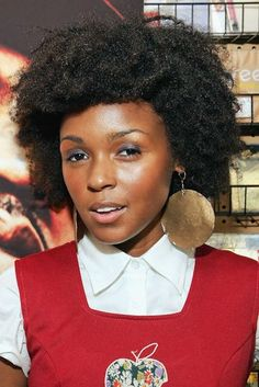 Janelle Monae's beautiful hairstyle