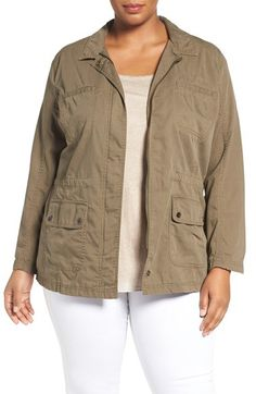 Caslon® Caslon® Utility Jacket (Plus Size) available at #Nordstrom