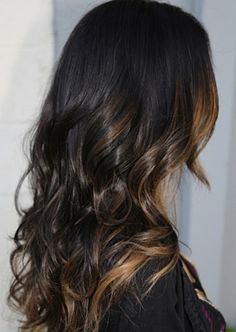 Dark brown hair with caramel highlights / ombre | best stuff