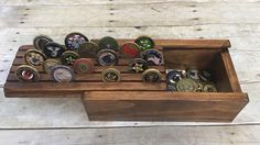 Excited to share this item from my shop: Challenge Coin Display Holder Box Collector Military Law Enforcement Wood Display Case Holds 25 Coins Keepsake Box Storage Wood Display, Display Boxes, Display Case, Challenge Coin Holder, Challenge Coin Display, Youtube Woodworking, Woodworking Books, Woodworking Ideas, Woodworking Classes