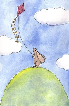 Bunny With A Kite by Christy Beckwith