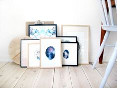 DIY - Make your own illustration and wall art with watercolor