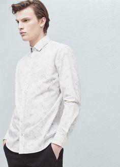 Camisa slim-fit estampada | MANGO MAN