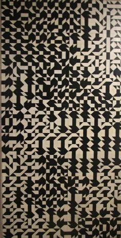 Zdeněk Sýkora, Černobílá struktura, 1966-67, 220x110cm, olej, plátno (via Galerie U Zlatého prstenu: Po sametu,1. část   Hančí blog)