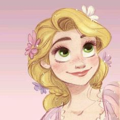 Rapunzel tangled fan art sketch drawing pastel colored pencil chalk painting design