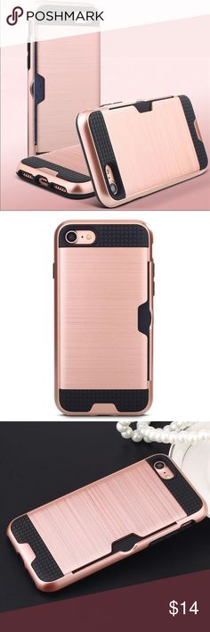 iPhone 7 Plus Shockproof tough protect wallet case Luxury 2017 newest design heave duty shockproof protective  2 in 1 hybrid High quality armor cases for iphone 7 Plus with ID card holder hard tough wallet phone. - Shock-Proof +Scratch-Resistant + Anti-Skid+anti filp - High quality make your iphone look Fashion & gorgeous.   - Fashion and Comfortable Style  - Perfect access design for speaker, buttons, camera and ports, etc. - Protection from scratch, dust and impacts. Color: Rose Gold Size…