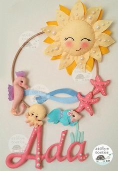 ФЕТРОКЛУБ: Идеи - Фетр - Изделия Baby Crafts, Felt Crafts, Diy And Crafts, Crafts For Kids, Arts And Crafts, Felt Wreath, Felt Garland, Felt Ornaments, Baby Mobile Felt