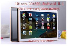 10 inch HD 2560x1600 2GB RAM 32G ROM Dual SIM Card 4G network call 1.6GHZ Dual Camera Tabet PC. Processor: Octa Core 1.6GHz Operating system: Android 5.1 the latest Andrews Flat Size: Length 230 mm Width 159 mm Thickness 8 mm Display: Original IPS screen 10-inch high-definition resolution: 2560 * 1600 HD IPS. mory (RAM): large 2G version 5.0MP pixels before pixel 2.0MP: Room Support SIM card network called 4G Battery: 10000mA.