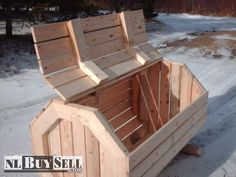 Classifieds in Newfoundland and Labrador (Newfoundland Buy & Sell Online) Wood Crates, Wood Boxes, Woodworking Shop Layout, Woodworking Projects, Outdoor Projects, Wood Projects, Diy Projects Home Improvement, Window Box Flowers, Wood Trunk