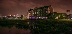 Favorite wedding venues: Charleston's Rice Mill building on a stormy wedding night  © Carolina Photosmith