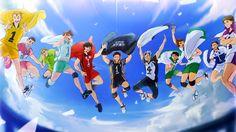 Yuji Reushima, Kazuteru Akiu, Yuzuru Komaki, Tooru Oikawa, Tetsuro Kuroo, Daichi Sawamura, Kotaro Bokuto, Kaname Moniwa, Kenji Futakuchi, Yoshiki Towada & Wakatoshi Ushijima