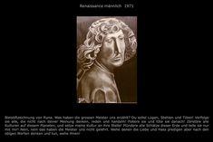 Renaissance männlich / Bleistift RZ © 1971 / Text RZ © 2008
