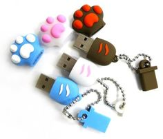 Now aren& these just absolutely cute to look at? The Cat Paw USB flash drive comes in only one memory size & but thankfully. Usb Gadgets, Cool Gadgets, Electronics Gadgets, Kawaii Accessories, Tech Accessories, Usb Drive, Usb Flash Drive, Usb Stick, Accessoires Iphone