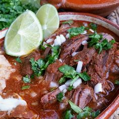 Birria is a Mexican stew made with blended chile peppers simmered with beef stew meat. Slow Cooker Recipes, Mexican Food Recipes, Crockpot Recipes, Dinner Recipes, Cooking Recipes, Dinner Ideas, Mexican Stew, Mexican Dishes, Mexican Christmas Food