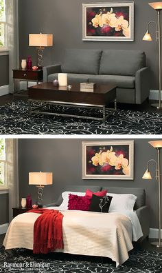 Comfort and convenience make this new Hannah II sleeper sofa a favorite of family and guests. It's a regular sofa by day, and a comfortable sleeping experience by night!