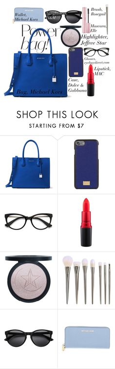 """power bag"" by alexandrabianca-1 on Polyvore featuring MICHAEL Michael Kors, Dolce&Gabbana, MAC Cosmetics and Michael Kors"