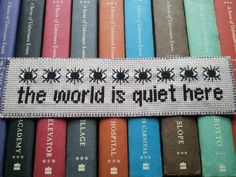 The World Is Quiet Here -Bookmark Pattern on Etsy, $2.66 CAD